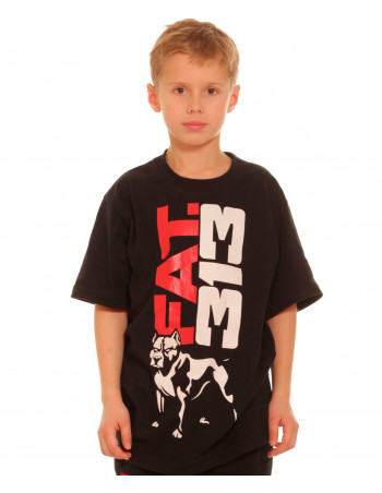 FAT.313 Kids Legend Baggy Tee Black RedNWhite