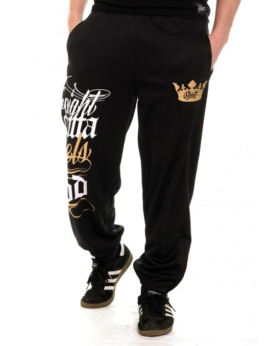 BSAT Rebels Hood Sweatpants Black/WhiteNGold