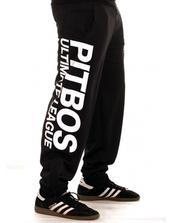 Pitbos Ultimate League Sweatpants BlackNWhite