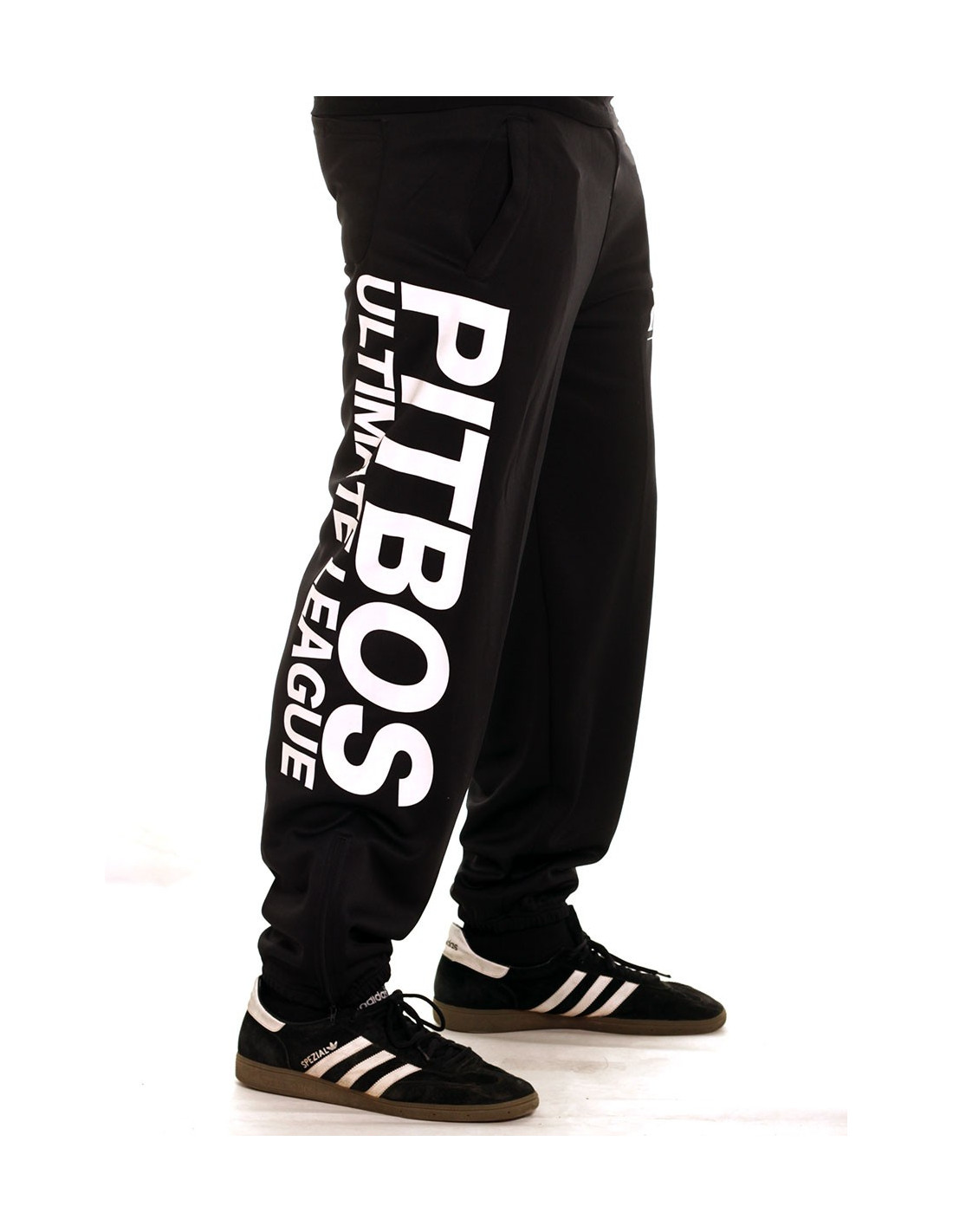 Pitbos Ultimate League Sweatpants BlackNWhite