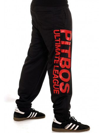 Pitbos Ultimate League Sweatpants BlackNRed