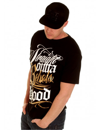 BSAT Rebels Hood Tee Black/WhiteNGold
