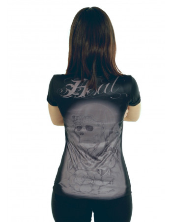 BSAT Praying Skull Tee BlackNGrey