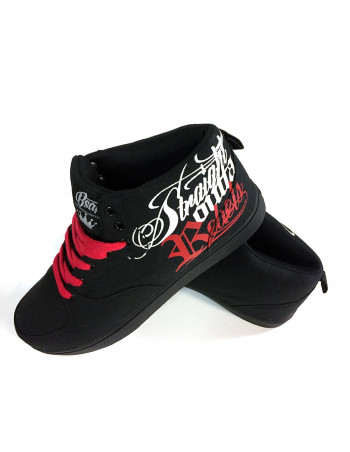 BSAT Rebels Canvas Sneakers Black/White/Red