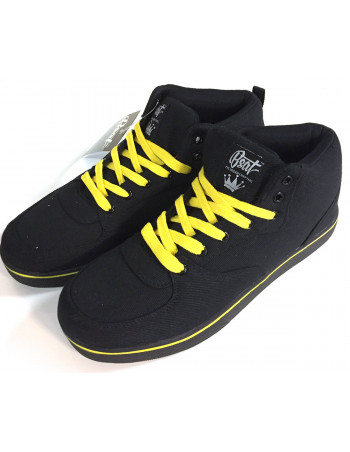 BSAT Bronx Canvas Sneakers BlackNYellow