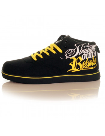 BSAT Rebels Canvas Sneakers Black/White/Yellow