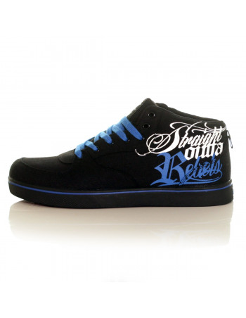 BSAT Rebels Canvas Sneakers Black/White/Blue