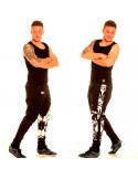 BSAT Smokin Skull Track Pants Black
