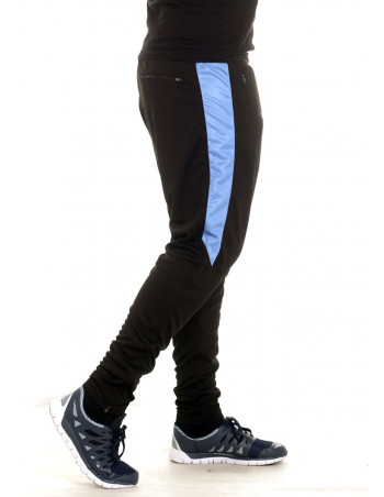 BSAT Panther Track Pants BlackNSkyblue