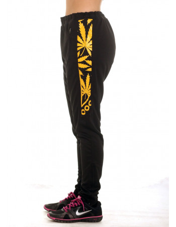 Smokin Track Pants Black YellowGold by BSAT