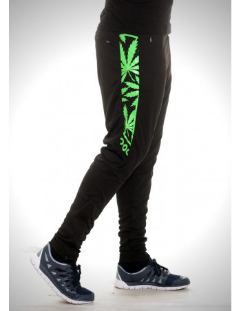 BSAT Smokin Track Pants BlackNGreen