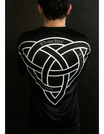 Nordic Nation Celtic Knot Tee BlackNWhite