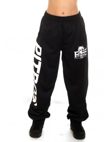 Pitbos Ultimate League Sweatpants Ladies BlackNWhite