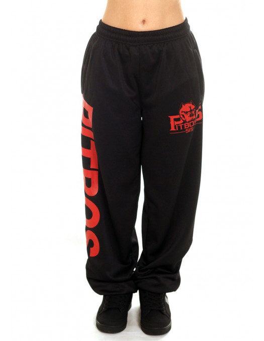 Pitbos Ultimate League Sweatpants Ladies BlackNRed