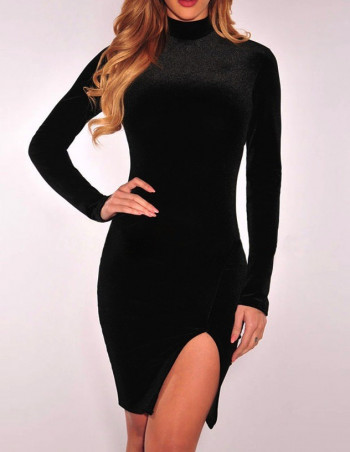 Velvet Dress Black