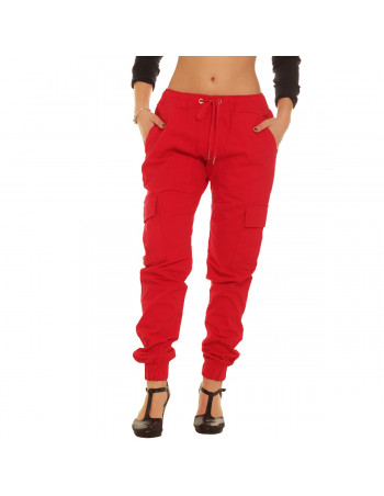 Jogger Cargo Pants Red