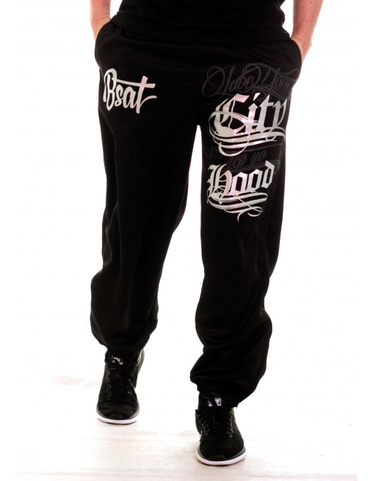 Hood Sweatpants BlackNSilver by BSAT