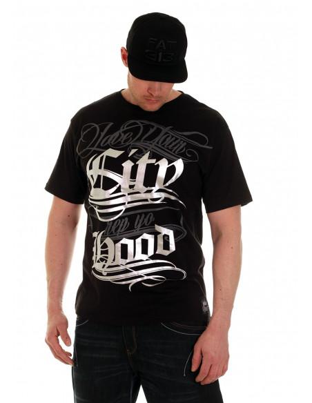 Hood Tee BlackNSilver by BSAT