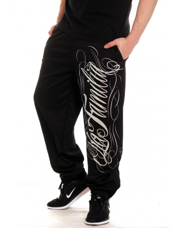LA FAMILIA Sweatpants BlackNSilver by BSAT