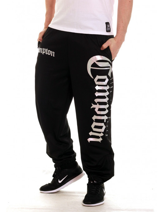 Straight Outta Compton Sweatpants BlackNSilver by BSAT
