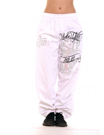 BSAT Hood Sweatpants WhiteNSilver