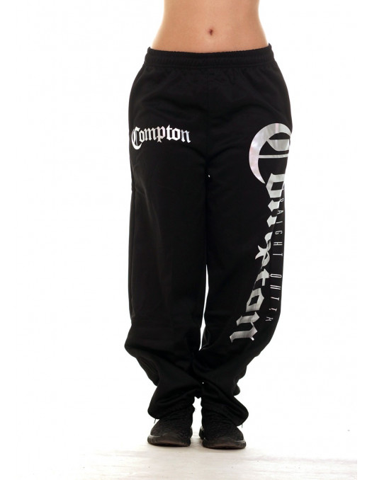 BSAT Straight Outta Compton Sweatpants BlackNSilver