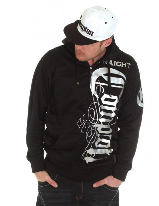 Straight Outta Compton ZipHoodie BlackNSilver by BSAT