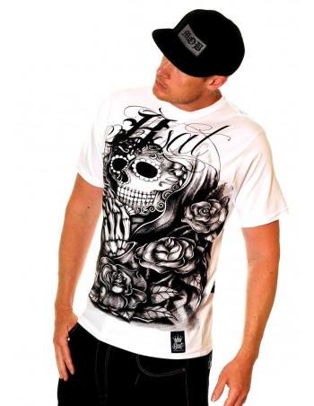 BSAT Praying Skull CF Tee White