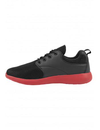 Light Casual Street Shoes BlackNRed