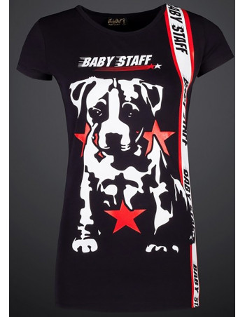 Red Star Puppy Tee Black