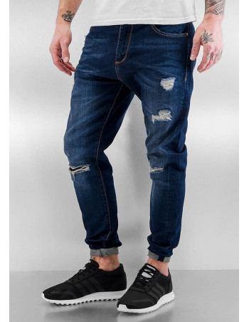 Destroyed Antifit Jeans Indigo