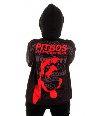 League ZipHoodie BlackNRed by Pitbos