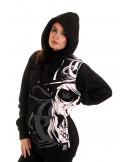 BSAT Cali Skull ZipHoodie Black