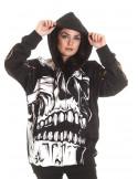 BSAT Big Skull Rebel ZipHoodie Black
