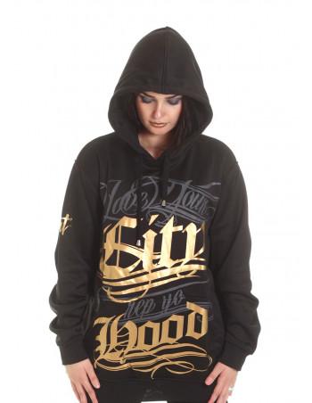 BSAT Hood Hoodie BlackNGold