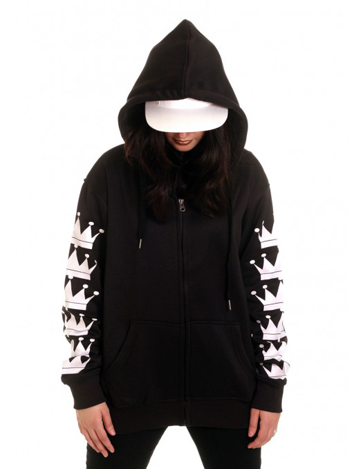 BSAT Crown Bronx ZipHoodie Black