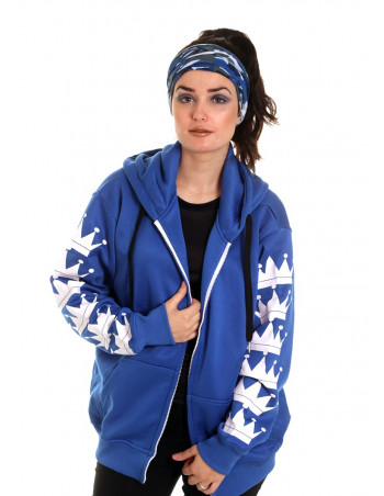 BSAT Crown Bronx ZipHoodie RoyalBlue