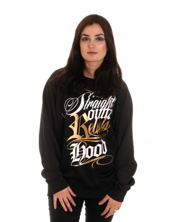 BSAT Rebels Hood Crewneck Black/WhiteNGold