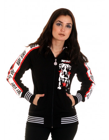 Red Star Puppy ZipHoodie Black