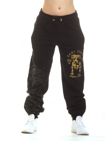 Puppy Couture Sweatpants BlackNYellowGold