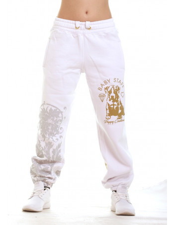 Puppy Sweatpants White