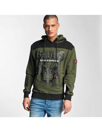 Dark Skull Hoodie Olive by Blood In Blood Out
