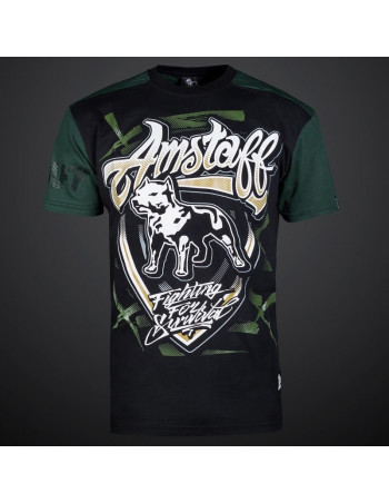 Dog Shield Tee Olive by Amstaff