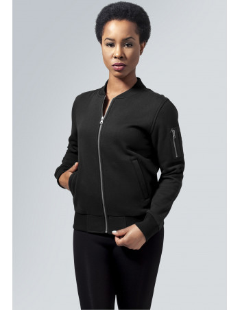 Urban Sweat Bomber Jacket Black