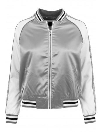 Street Jacket SilverNWhite