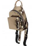 Mini Metallic Backpack Gold