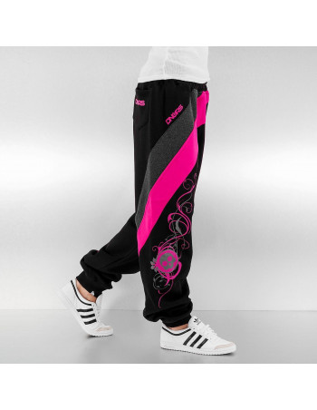 Striped Skull Sweatpants Black/Grey/Pink