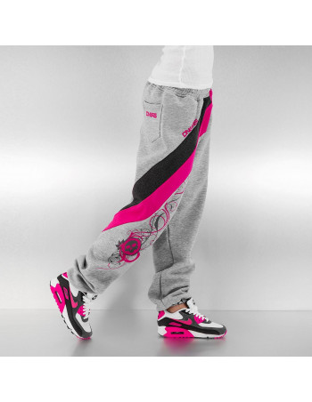 Striped Skull Sweatpants Grey/Pink/Black