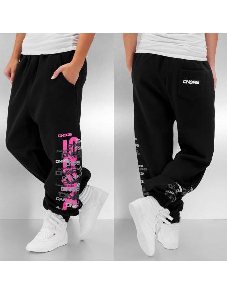 Logo Repeat Sweatpants Black/Grey/Pink