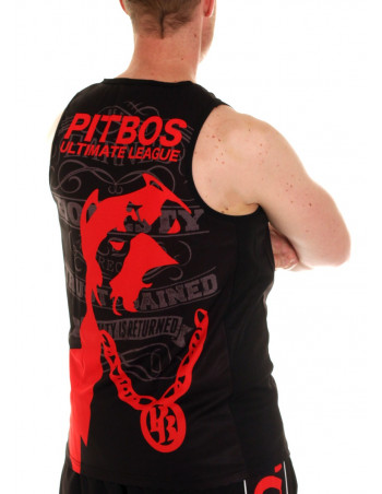 Pitbos Ultimate League Tanktop BlackNRed